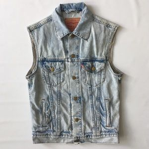 Vintage Levi's Denim Vest - Men's Small